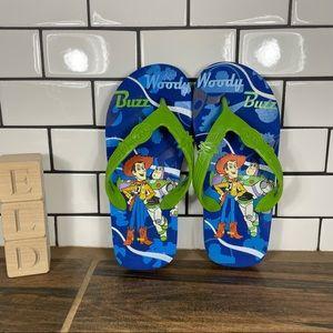 Disney Pixar Toy Story Sheriff Woody-Buzz Lightyear Thong Flip Flop Sandals